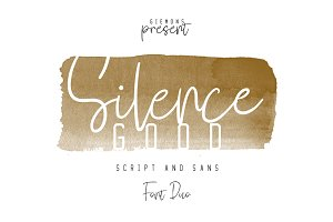Silence Good - Font Duo!