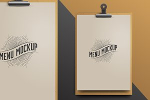 Menu Template. Mock Up.
