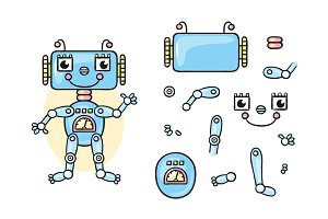 Robot body parts for kids to put