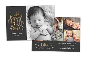Birth Announcement Template CB086