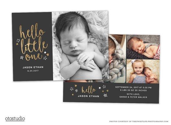 Birth Announcement Template CB086