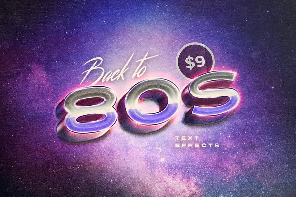 Photoshop Layer Styles: Pixelbuddha - Back to the 80s Retro Text Effects