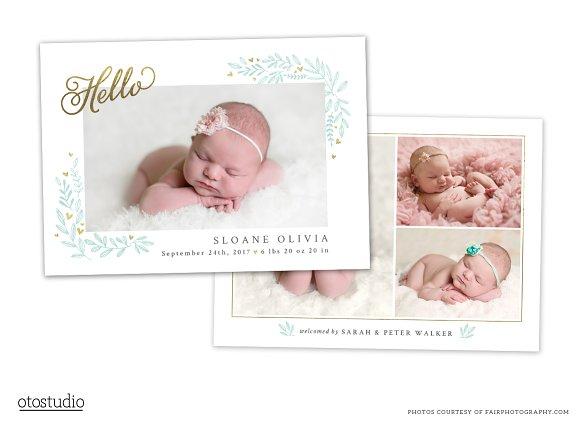 Birth Announcement Template CB089