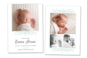 Birth Announcement Template CB090