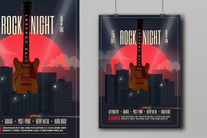 Live Concert Rock Night Poster