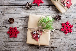 Holiday christmas gift box. Christma
