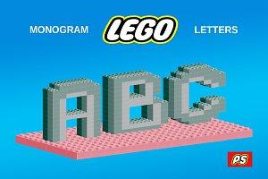 Lego Monogram letters