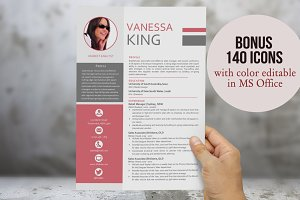 3 in 1 modern photo resume