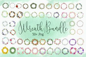 Watercolor Wreath Bundle