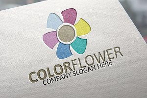 Colorful Flower logo