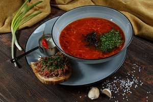 Traditional Ukrainian Russian borsch