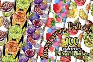 Yummy-yummy 100 patterns of fruits