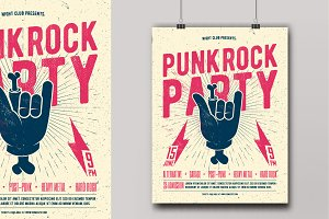Punk Rock Party Flyer Poster