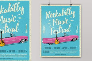 Rockabilly Music Festival Poster