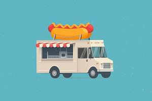 Hot Dog Street Food Truck