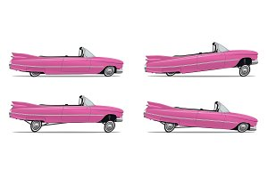 Cartoon American Car lowrider