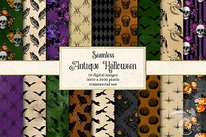 Antique Halloween Digital Paper