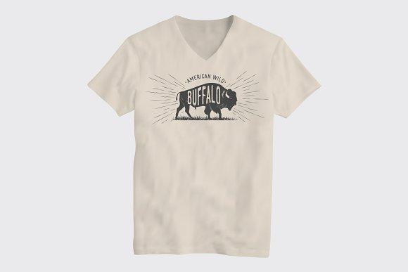 Buffalo American Wild T-Shirt Design