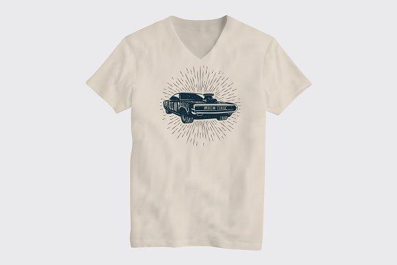 Classic Muscle Car T-Shirt Design
