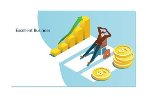 Concept of business growth with an