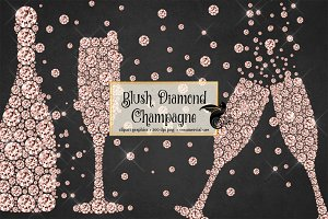 Blush Diamond Champagne clipart