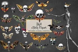 Skull Moth Clipart