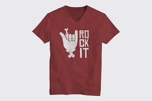 Rock It Logo T-Shirt Design Concept.