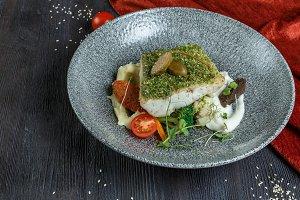 Snow fish fillet steak
