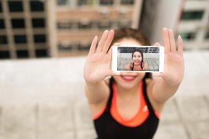 Selfie Photos after doing Yoga