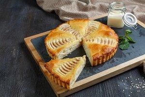 apple, berry, chocolate lemon pie