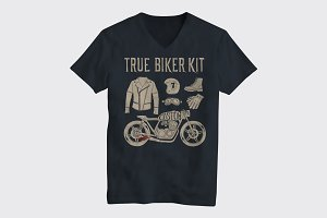 Motorcycle themed t-shirt design