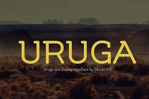 Uruga Typeface Font + Webfont