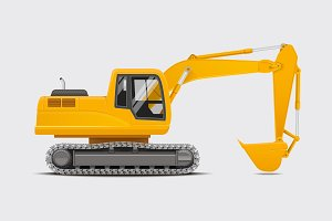 Digger Realistic vector illustration