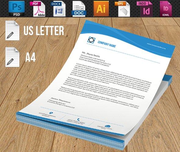 Company Letterhead V02 Stationery Templates Creative Market