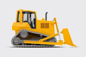 Dozer. High detailed vector