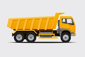 Tipper Truck. Vector illustration.