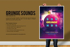 Grunge Sounds Party Flyer