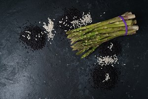 Asparagus Dark Background