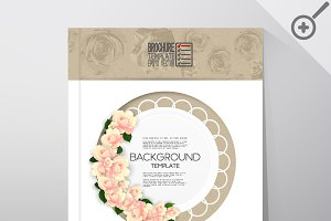 Brochure with floral backgrounds