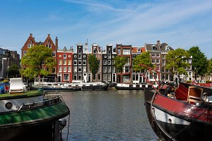 Canalhouses on the Amsterdam Amstel