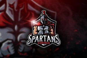 Spartans Squad-Mascot & Esport Logo