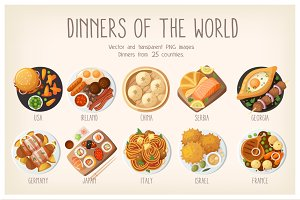 Dinners of the world set