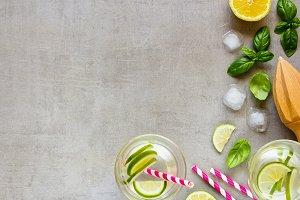 Healthy homemade lemonade