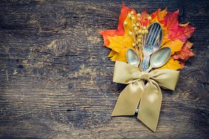 Thanksgiving autumn place setting