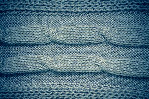Grey knitting wool texture