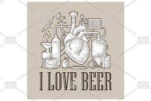 Brewery factory beer engraving