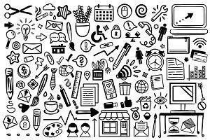 Office Doodle Clip Art Set