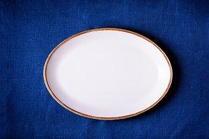 Overhead empty plate