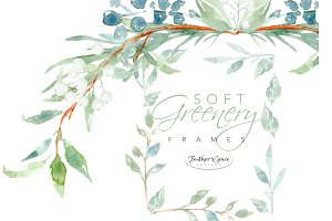 Watercolor Greenery & Wreaths