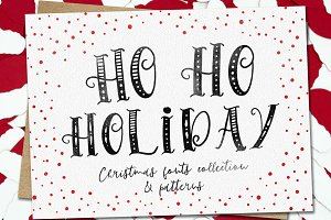 HoHoHolidayFonts collection&patterns